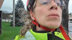 (sfrikken) Tags: villa park illinois dupage county bicycle rain prairie path bike susan selfie