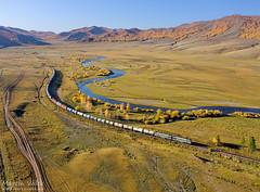 2TE116-1601 UBTZ/RŽD, Shatang - Tunkh (Mongolia) (Martin Válek) Tags: rail railway railroad train locomotive zug eisenbahn vlak železnice ulaanbaatarrailway transmongolianrailway mongolei kharaa