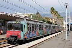 ERT-113-ETR-093-Sorrento-Italy-19-9-2019- (D1021) Tags: ert113 ert093 emu metergauge sorrento sorrentostation italy italianrailway d300 nikond300