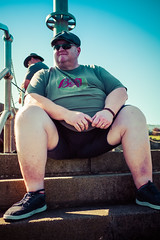 """Pump it up, when you don't really need it"""" (Livesurfcams) Tags: fisherman devon ilfracombe harboursteps fuji fujifilm xh1 23mm"""