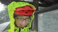 (sfrikken) Tags: illinois dupage county bicycle rain prairie path bike lombard susan selfie