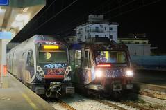 ERT-203-ETR-085-Sorrento-Italy-19-9-2019 (D1021) Tags: ert203 etr085 emu metergauge sorrento sorrentostation italy italianrailway d300 nikond300 nightshot