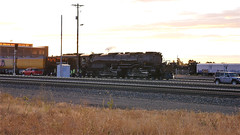 UP 4014 At Sunrise In Cheyenne WY! (844steamtrain) Tags: 844steamtrain up union pacific big boy 4014 844 3985 sp 4449 lner flying scotsman mallard prr 5550 t1 trust biggest largest heaviest most popular trending relevant galore viral culture recommended related america usa shared science technology history video camera videos trump new news travel tourism adventure events railroad railway google flickr youtube facebook best top great photography photo picture art black color metal machine