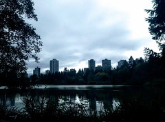 Blue Reverie (Marcia Portess-Thanks for a million+ views.) Tags: quiet stanleypark parque park cielo sky nubes clouds shine azul bleu blue silvery serene trees woods laguna water lagoon canada westend vancouver lostlagoon marciaaportess marciaportess map bluereverie