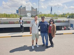 Met a couple outside of Khan Shatyr that came from Almaty and had a few days in Nursultan.