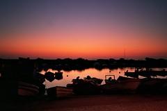 L'aube (michel nguie) Tags: red sea sky sunlight portugal water port boats fishing shadows bateaux aurora aube fuseta michelnguie sunrise