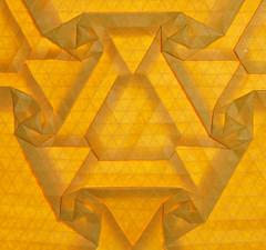 Spotted teardrop tessellation (mganans) Tags: origami tessellation