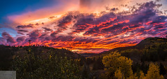 Fire in the Sky (Wycpl) Tags: redsky clouds wyoming sunset jcpphotography fallcolors
