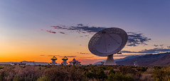 Sunset at the Cal Tech OVRO (RS2Photography) Tags: leightonln leightonlane telescope caltech radiotelescope frb frbs fastradiobursts blazar blazars ovro owensvalleyradioobservatory owensvalley bigpine california easternsierra sunset clouds rs2photography photography photo landscape natur nature naturephotography flickr smugmug canon canon80d eos 40m 40mtelescope usa america dish 2019 fall new sky colours colors light art outside bigears orange yellow blue