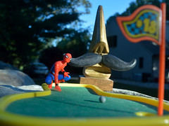 This for birdie... (270/365) (robjvale) Tags: 365the2019edition 3652019 day270365 27sep19 project365 nikon d3200 spiderman golf random putt ball green caddy werehere wah hereios