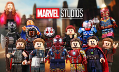 Welcome Back Spidey! (MGF Customs/Reviews) Tags: lego spiderman spidey tom holland peter parker marvel cinematic universe sony kevin feige custom figure minifigure iron man captain america doctor strange thor black panther starlord widow yeet