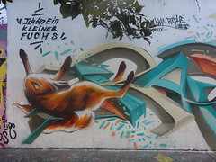 Lima Lima & Raphe : Ich bin ein kleiner Fuchs (septembre 2019) (Archi & Philou) Tags: streetart ruehenrinoguères murpeint paintedwall limalima raphe renard fox fuchs 19 graff