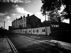 Not For Much Longer, Brentford (dominicirons) Tags: brentford westlondon middx middlesex local blackwhite blackandwhite highstreet demolition