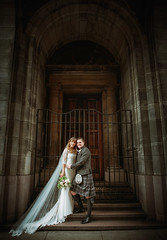 Todays Wedding! (Samantha Nicol Art Photography) Tags: scottish wedding kilt samantha nicol steps bride groom glasgow looks like film tribe dress bouquet love