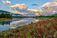 Oxbow Bend (Explore) (Brenda Harker) Tags: grandtetonnationalpark grandtetons wyoming oxbowbend mountains river reflection mountmoran