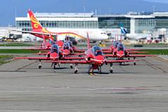 CYVR - Royal Air Force Red Arrows aerobatic team. (CKwok Photography) Tags: yvr cyvr royalairforce redarrows
