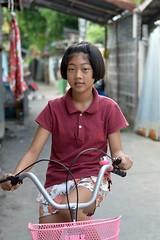 girl on a bicycle (the foreign photographer - ฝรั่งถ่) Tags: girl child bicycle khlong lard phrao portraits bangkhen bangkok nikon d3200