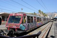 ERT-067-ETR-062-Sorrento-Italy-20-9-2019 (D1021) Tags: ert067 ert062 emu metergauge sorrento sorrentostation italy italianrailway d300 nikond300