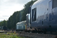 """Focusing on the 37 (37190 """"Dalzell"""") Tags: ee drs brblue hnrc largelogo directrailservices harryneedlerailroadcompany unbrandedblue tractor spoon brush duff growler type3 sulzer englishelectric class47 class37 type4 class376 37691 37612 class470 ruddington dieselgala gcrn 37179 47292 greatcentralrailwaynorth d1994 d6879 eps class377 europeanpassengerservices"""
