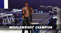 Premier Wrestling Middleweight Champion (Shereif (iDetective)) Tags: secondlife sl slwrestling championship premierwrestling