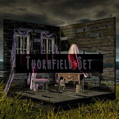 crate's Thornefield Set for Salem! (crate.) Tags: salem crate backdrop vanity chair decor spooky creepy halloween gothic