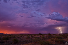Divergence (Steven Maguire Photography) Tags: arizona cochisecounty clouds southwest skyscape sunset lightning landscape monsoon
