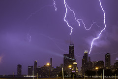 Nature Beats Photoshop (aerojad) Tags: eos canon 80d dslr 2019 autumn outdoors landscape city urban chicago northavenuebeach lakemichigan longexposure thunderstorm storm lightning lightningphotography clouds weather ilwx nature skyline cityscape slowshutter