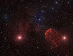 Nébuleuse diffuse de la Méduse IC 443 (photopoésie) Tags: ic443 hubble méduse gemini