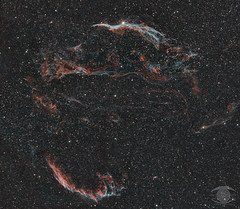The Cygnus Loop in bi-colour (Hα & OIII)- 12 Panel Mosaic - 74.3 Megapixel (Dark Arts Astrophotography) Tags: astrophotography astronomy space sky stars star science night nature natur nebula nightsky ngc cygnus veil veilnebula astrometrydotnet:id=nova3636134 astrometrydotnet:status=solved