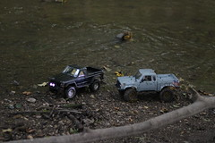 Little big cars (jbouikidis) Tags: car cars trucks water offroading dirt mud nature afternoon lowlight natural driving two upstream