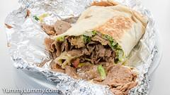 Lamb kebab with all the salad and sour cream (garydlum) Tags: halal kebab lamb