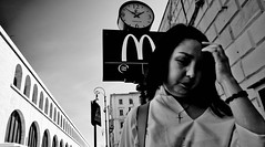 Is there a McDonald's around here someplace... (Baz 120) Tags: candid candidstreet candidportrait city contrast street streetphoto streetcandid streetportrait strangers rome roma ricohgrii europe women monochrome monotone mono noiretblanc bw blackandwhite urban life portrait people provoke italy italia girl grittystreetphotography faces decisivemoment