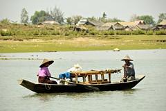 Couple on a boat in Sittwe - Rakhine State - Myanmar (PascalBo) Tags: nikon d70 burma birmanie myanmar asia asie southeastasia asiedusudest sittwe akyab rakhinestate people boat bateau river rivière man homme couple woman femme outdoor outdoors pascalboegli