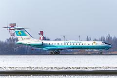 Military Tu-134A (tzhskz) Tags: aircraft airplane airliner airport ala uaaa jet tupolev takeoff tu134ak un65683 runway military