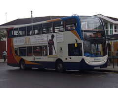 Stagecoach ADL Enviro 400 (Scania N230UD) 15448 MX08 GHO (Alex S. Transport Photography) Tags: bus outdoor road vehicle stagecoach stagecoachmidlandred stagecoachmidlands adlenviro400 enviro400 e400 scania n230ud routeu2 15448 mx08gho