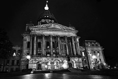 Capitol (johnsinclair8888) Tags: hdr dark highiso wideangle bw monochrome nikon 20mm d850 illinois capitol dome night longexposure affinityphoto slidersunday