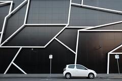 DSCF3728 (jhnmccrmck) Tags: melbourne southbank victoria fujifilm fujifilmxt1 classicchrome architecture xt1 xf1855mm car angles southbanktheatre