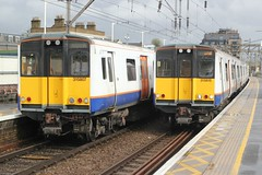I bagged a pair ! (AndrewHA's) Tags: railway train bethnalgreen station eastlondon london overground class 315 electric multiple unit emu 315815 chingford liverpool street enfield town 315807