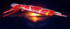 Soban Defense Field Carrier – Aegis (Rphilo004) Tags: homeworld soban defense carrier aegis shiptember microscale microspace spaceship spacecraft space ship fleet lego