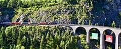 Swiss trains and bridges (somabiswas) Tags: swiss trains bridges switzerland albula railways landwasser landscape glacierexpress travel viaduct suisse