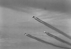 Midnight Hawks - BAe Hawk Mk. 51 (Lars_Holte) Tags: pentax 645 pentax645 645n 6x45 smcpentax67 300mm f40 120 film 120film ilford delta 3200 delta3200 1600iso analog analogue rodinal aph09 mediumformat blackandwhite classicblackwhite bw monochrome filmforever filmphotography ishootfilm larsholte homeprocessing denmark danmark roskilde airshow aircraft flying midnighthawks bae hawk