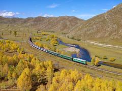 M62UMM-013 UBTZ, Shatang - Tunkh (Mongolia) (Martin Válek) Tags: ulaanbaatarrailway rail railway railroad train locomotive zug eisenbahn vlak železnice transmongolianrailway mongolei kharaa