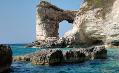 Tripitos Arch, Greek Island of Paxos (robin denton) Tags: tripitos tripitosarch paxos paxi coast seascape sea mediterranean ioniansea greekislands greece cliffs chalk