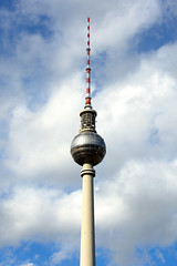 again and again (ericgrhs) Tags: tvtower fernsehturm berlin ostberlin sky clouds tower
