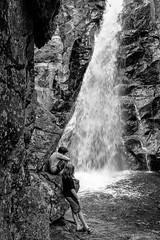 Glen Ellis Falls (FotoFloridian) Tags: adventure blackandwhite boys cliff friends hiking males mountain outdoors people river rockobject scenics sony travel waterfall a6400 alpha landscape nature water cof080mari cof080mark cof080lep cof080dmnq
