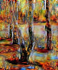After the rain (V_Dagaev) Tags: trees park landscape art painterly painting painter paintingsfromphotos paint digital dynamicautopainter visualdelights forest