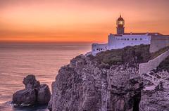 Portugal 2019 - Lighthouse at Sagres (cesbai1) Tags: portugal algarve sagres end world summer sunset lighthouse phare leuchtturm coucher de soleil ocean sea seaside seascape landscape