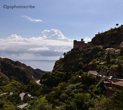 Savoca (stewardsonjp1) Tags: church road winding traditional ocean hillside mountains beautiful town film godfather italy sicily savoca