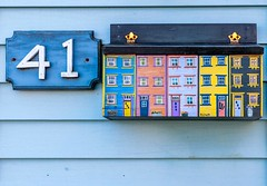 41 (Karen_Chappell) Tags: mail mailbox post 41 number house home jellybeanrow art wood wooden paint painted blue orange purple yellow green colour color colours colors colourful multicoloured architecture clapboard stjohns city urban downtown newfoundland nfld canada eastcoast atlanticcanada avalonpeninsula rowhouse canonef24105mmf4lisusm