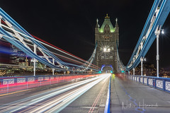 Tower Bridge trails! (Nathan J Hammonds) Tags: london tower bridge thames city light lights long exposure night photography trails classic nikon d850 irex 15mm uk